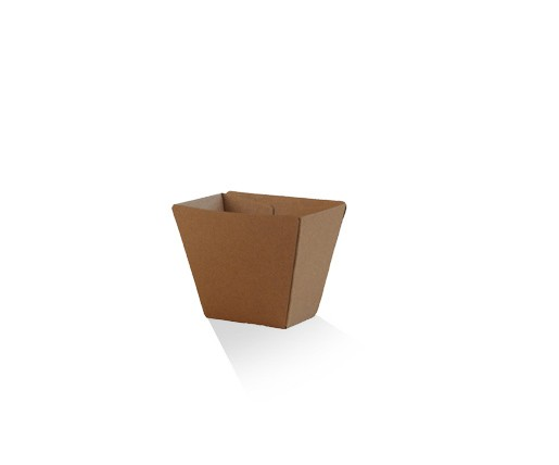 Chip Cup / Brown Corrugated Kraft / Plain