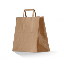 Brown Kraft Paper Bag with Flat Handle