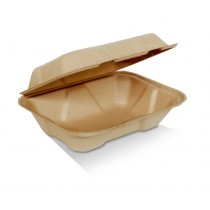 "9x6x3"" bamboo clamshell"