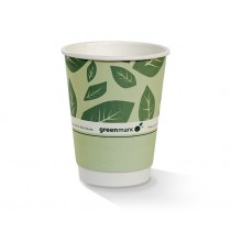 12oz PLA coated DW Cup / green print