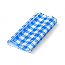Gingham Blue Greaseproof Paper