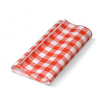Gingham Red Greaseproof Paper