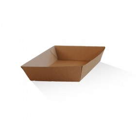Tray 3 / Brown Corrugated Kraft / Plain
