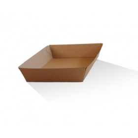 Tray 4 / Brown Corrugated Kraft / Plain