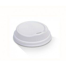 6/8/10oz Biodegradable Hot & Cold Lid / White